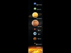 Aurinkokunta kirjanmerkki