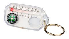 Avaimenperä suurennuslasi, kompassi, lämpömittari