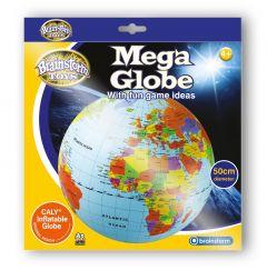 Paketin kuvassa näet puhalletun karttapallon.