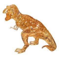 Kolmiulotteinen tyrannosaurus rex palapeli. Palapelin väri on ruskea.
