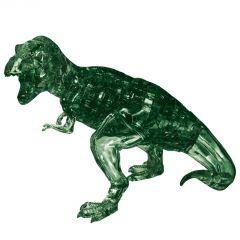 Kolmiulotteinen tyrannosaurus rex palapeli. Palapelin väri on vihreä.