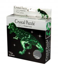 Crystal puzzle T-Rex green