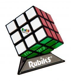 Alkuperäinen Rubikin kuutio, jonka mukana tulee pieni jalusta kuutiota varten. Rubikin kuution sivujen värit ovat: Valkoinen, punainen, vihreä, sininen, oranssi sekä keltainen.
