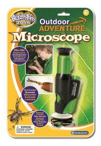 Mikroskooppi vihreä musta.