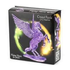Crystal Puzzle Flying horse purple