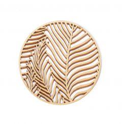 Wooden coasters - Puiset lasinaluset 4 kpl Kaisla