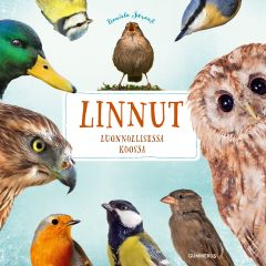 Kansikuvassa vaaleansinisellä taustalla eri lintulajeja.