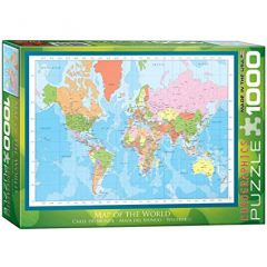 Map of the World, puzzle 1000 palaa