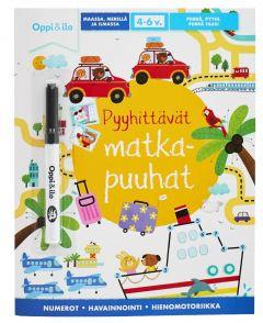 Pyyhittävät matkapuuhat-puuhakirja Oppi & Ilo