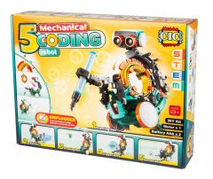 Mechanical 5 in 1 Coding Robot