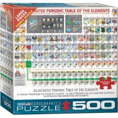 Illustrated Periodic Table of the Elements, puzzle 500 palaa