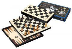 Shakki - Backgammon - Tammi matkasetti