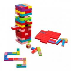 3 in 1: Huojuva torni, domino ja muistipeli