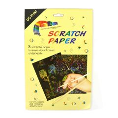 Scratch Paper Rainbow - raaputuspaperi