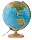 Karttapallo 30 cm, puinen jalusta