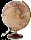 Karttapallo 30 cm antiikki, puinen jalusta