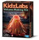 Pakkauksen tarvikkeilla saat maalattua itsellesi kauniin tulivuoren joka sylkee punaista kuplivaa laavaa.